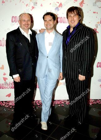 World Premiere of Confetti at the Vue West End Leicester Square London Vincent Franklin Jimmy Carr & Mark Wootton