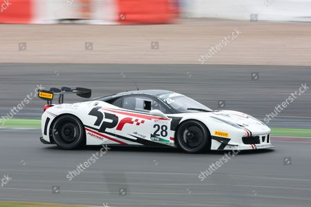 Stock Image of Paul Bailey and Andy Schulz (pro) Ferrari 458 Challenge  MSVR at GT Cup Championship
