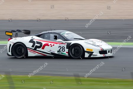 Stock Picture of Paul Bailey and Andy Schulz (pro) Ferrari 458 Challenge  MSVR at GT Cup Championship