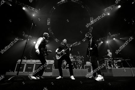 Stock Picture of Francis Rossi, John Rhino Edwards, Richie Malone, Leon Cave and Andy Bown - Status Quo Live - Last of the Electrics Tour