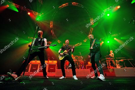 Stock Photo of Francis Rossi, John Rhino Edwards, Richie Malone, Leon Cave and Andy Bown - Status Quo Live - Last of the Electrics Tour