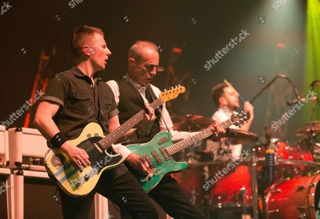 Stock Photo of Richie Malone, Francis Rossi and Leon Cave - Status Quo Live - Last of the Electrics Tour