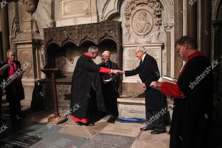 Editorial picture of Dedication of a Memorial to Philip Larkin in Poet's Corner at Westminster Abbey, London, UK - 02 Dec 2016