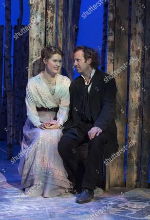 Geoffrey Streatfeild as Platonov, Justine Mitchell as Anna Petrovna