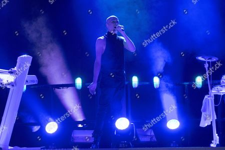 Editorial photo of The Human League in concert at the Royal Concert Hall, Glasgow, Scotland, UK - 06 Dec 2016