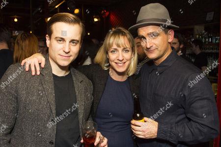 Kevin Bishop (Jerry Hyland), Claudie Blakley (May Daniels) and John Marquez (George Lewis)