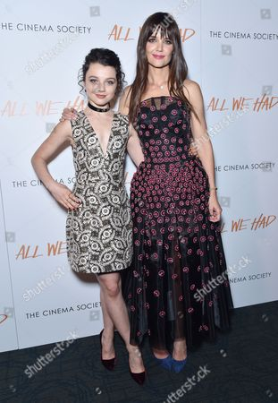 Stefania Owen and Katie Holmes
