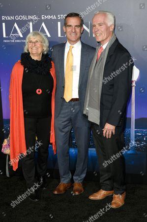 Sukey Garcetti, Mayor Eric Garcetti and Gil Garcetti