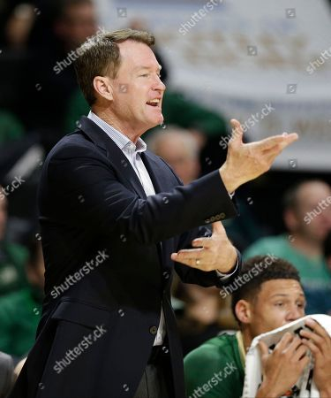 Charlotte head coach Mark Price directs his team during the second half of an NCAA college basketball game against Wake Forest in Winston-Salem, N.C., . Wake Forest won 91-74