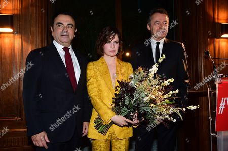 Carlos Ghosn, Heloise Letissier and Michel Denisot