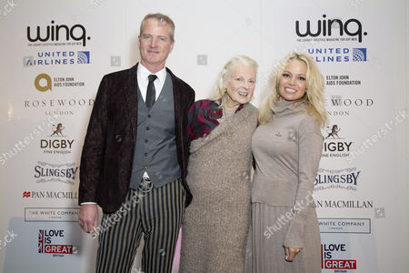 Winner of the Winq Activism Award Dan Mathews, Vivienne Westwood and Pamela Anderson