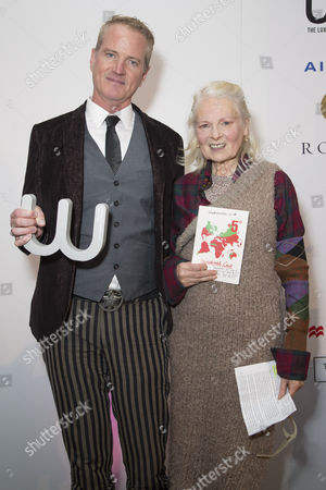 Winner of the Winq Activism Award Dan Mathews and Vivienne Westwood