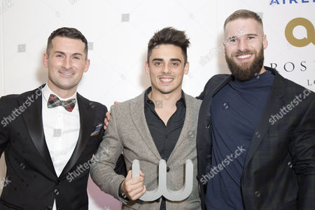 Host Mark McAdam, Winner of the sports award Chris Mears and guest
