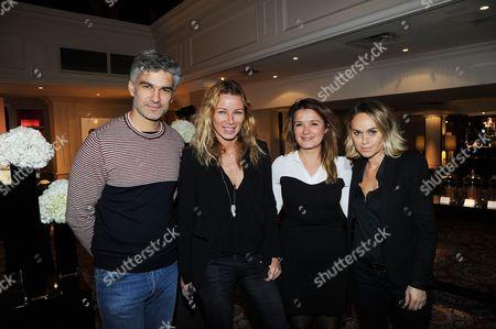 Francois Vincentelli, Carole Meylan, Pascale Delatour Dupin and Cecile de Menibus