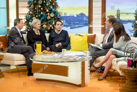 Owen Suskind with parents Ron and Cornelia, Piers Morgan, Susanna Reid