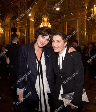 Ines de la Fressange and Daphne Roulier