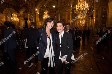Stock Image of Ines de la Fressange and Daphne Roulier