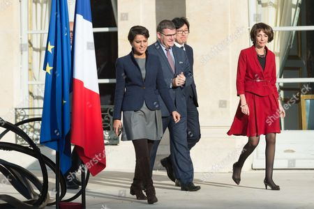 Najat Vallaud-Belkacem, Christophe Sirugue, Jean-Vincent Place and Marisol Touraine