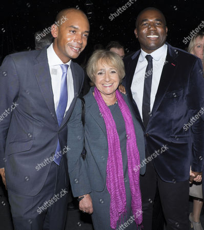 The London Evening Standard's '1000: London's Most Influential People' at the Francis Crick Institute Euston Road London Chuka Umunna Mp Margaret Hodge Mp Lord Paul Boateng ]