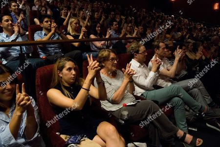 London, England, 27th June 2016: Magician Keith Barry Hypnotises the Audience Before the Screening of 'now You See Me 2' with a Magic and Hypnotism Show at the Picturehouse Central, London On the 27th June 2016