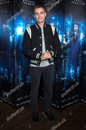 London, England, 27th June 2016: Magician Keith Barry and Dave Franco Introduce the Screening for 'now You See Me 2' with a Magic and Hypnotism Show at the Picturehouse Central, London On the 27th June 2016