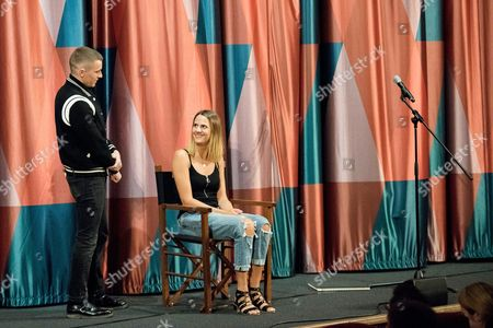 Stock Picture of London, England, 27th June 2016: Magician Keith Barry and Dave Franco Introduce the Screening for 'now You See Me 2' with a Magic and Hypnotism Show at the Picturehouse Central, London On the 27th June 2016