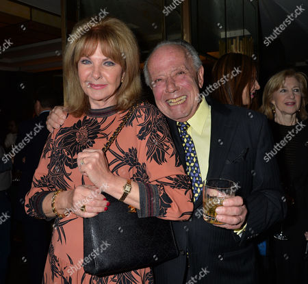Stock Picture of The Unveiling of Nick Botting's Painting 'The Rib Room - Today' - Which Celebrates the Restaurant's Status As A London Institution For Over 50 Years at the Rib Room the Jumeirah Carlton Tower Cadogan Place Chelsea London Mandy Rice Davies and Her Husband Ken Foreman