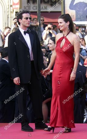 Stock Photo of Opening Night of the 54th Cannes Film Festival - Arrivals at the Screening of 'Moulin Rouge' at the Palais Des Festival Julia Ormond with Her Husband Jon Rubin