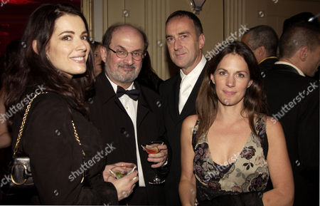 After Party For the Royal European Premiere of 'Bright Young Things' at Claridges London Nigella Lawson Salman Rushdie Angus Deayton and Lisa Mayer
