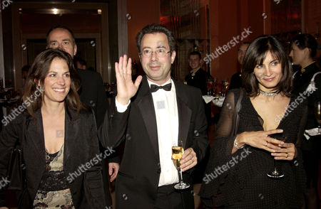 After Party For the Royal European Premiere of 'Bright Young Things' at Claridges London (l-r)lisa Mayer Ben Elton and Sunetra Sastry