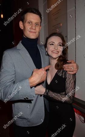 American Psycho Press Night at the Almeida Theatre Islington London Matt Smith and Cassandra Compton