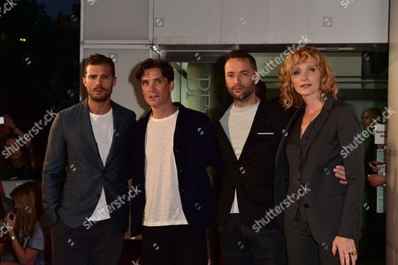 London, England 30th August 2016: Jamie Dornan, Cillian Murphy, Director Sean Ellis and Anna Geislerova at the Anthropoid Premiere Held at the Bfi Southbank Cinema On the South Bank in London On the 30th August 2016.