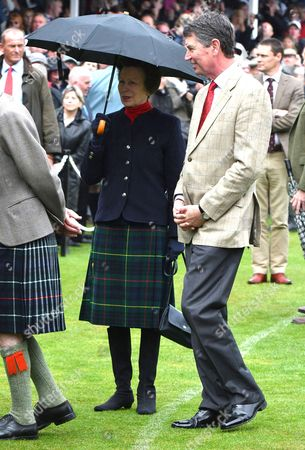 Aberdeenshire, Scotland, 3rd September 2016 Princess Anne and Husband Timothy Laurence at the Braemar Gathering at Braemar in Aberdeenshire Scotland On the 3rd September 2016.