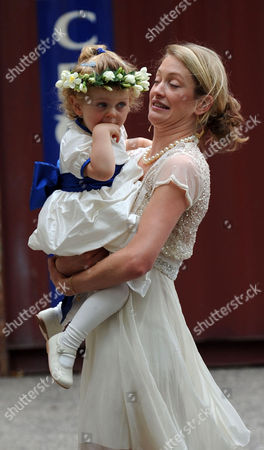 Wedding of Nicholas Van Cutsem and Alice Hadden-paton at the Guards Chapel and the Reception at Wellington Barracks Birdcage Walk Westminster London Lady Rose Van Cutsem with Her Daughter Grace Van Cutsem Grace Has Been Chosen As A Bridesmaid at the Wedding of Prince William & Kate MiddletonBridesmaids Chosen For at the Wedding of Prince William & Kate Middleton