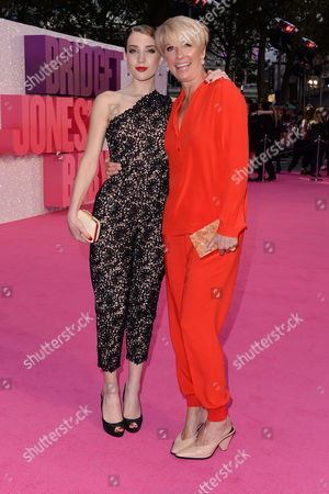 London,england 5th September 2016: Emma Thompson with Daughter Gaia Romilly Wise at the Bridget Jone's Baby World Premiere Held at the Odeon Cinema in Leicester Square, London On the 5th September 2016.