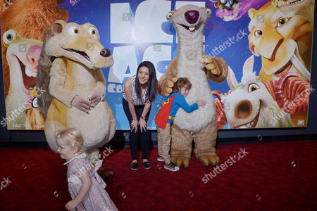 London, England, 9th July 2016 : Natalie Sawyer with Her Son Sawyer Attend the Celebrity Gala Screening of 'ice Age Collision Course' at the Empire Leicester Square, London, England On the 8th July 2016..