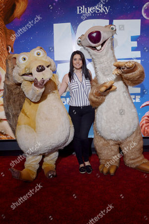 Stock Photo of London, England, 9th July 2016 : Natalie Sawyer Attends the Celebrity Gala Screening of 'ice Age Collision Course' at the Empire Leicester Square, London, England On the 8th July 2016..