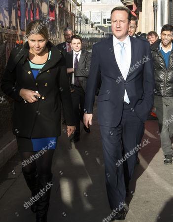 Prime Minster David Cameron and Mayor of London Boris Johnson Visit Cross Rail Tunnels in Soho Liz Sugg & Prime Minster David Cameron