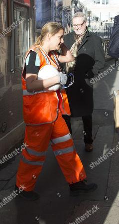 Prime Minster David Cameron and Mayor of London Boris Johnson Visit Cross Rail Tunnels in Soho Liz Sugg