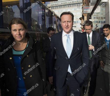 Prime Minster David Cameron and Mayor of London Boris Johnson Visit Cross Rail Tunnels in Soho Liz Sugg and Prime Minster David Cameron