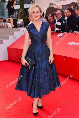 Stock Image of London, England 10th August 2016: Abbie Murphy at the David Brent Premiere in Leicester Square, London On the 10th August 2016.