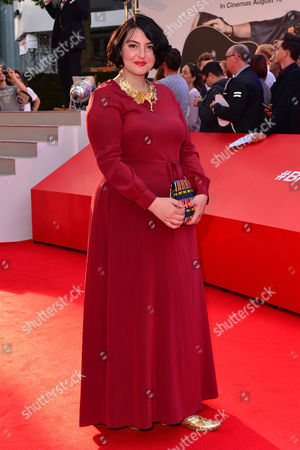 Stock Image of London, England 10th August 2016: Rebecca Gethings at the David Brent Premiere in Leicester Square, London On the 10th August 2016.