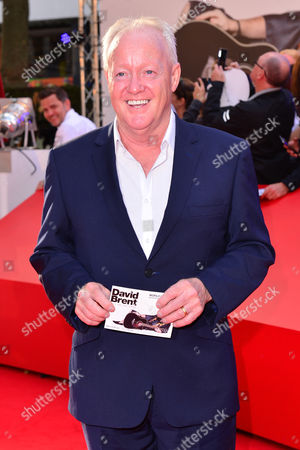 Stock Picture of London, England 10th August 2016: Keith Chegwin at the David Brent Premiere in Leicester Square, London On the 10th August 2016.