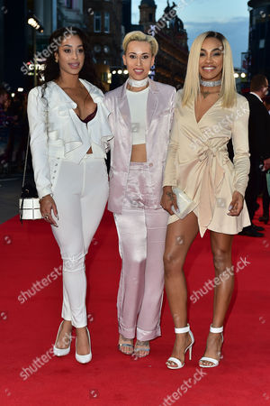 London UK 26th Sept 2016: Stooshe - Alexandra Buggs, Karis Anderson, Courtney Rumbold at the Deep Water Horizon Film Premiere at the Cineworld Leicester Square, London. September 26, 2016 London UK