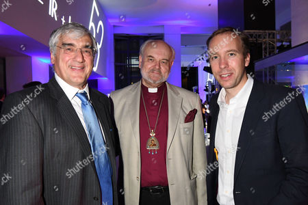 London, England 7th September 2016: Matthew Hancock Mp, the Bishop of London, the Rt Revd & Rt Hon Richard Chartres and Sir Michael Hintze Attends the Evening Standard Progress 1000 Awards Party at the Science Museum Exhibition Road West London.
