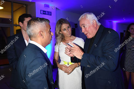 London, England 7th September 2016: Mayor of London Sadiq Khan with Fawn James and Father John James Attends the Evening Standard Progress 1000 Awards Party at the Science Museum Exhibition Road West London.