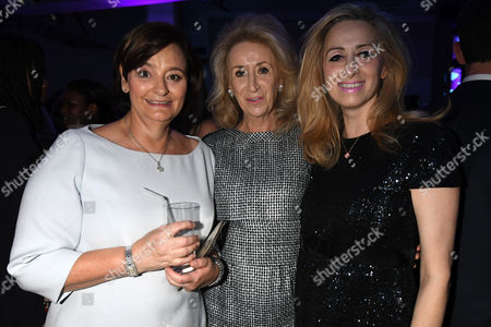 London, England 7th September 2016: Cherie Blair with Lady Estelle Wolfson with Her Daughter Antoinette Wolfson Attends the Evening Standard Progress 1000 Awards Party at the Science Museum Exhibition Road West London.