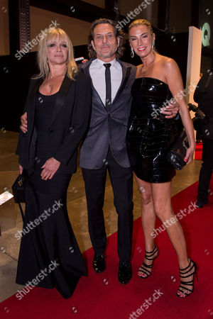 London, England 6th September 2016: Jo Wood, Stephen Webster and Anastasia Webster at the Gq Men of the Year Awards in Association with Hugo Boss Held at the Tate Modern On the Southbank in London On the 6th September 2016.