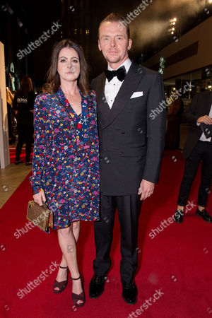London, England 6th September 2016: Simon Pegg and Wife Maureen Pegg at the Gq Men of the Year Awards in Association with Hugo Boss Held at the Tate Modern On the Southbank in London On the 6th September 2016.