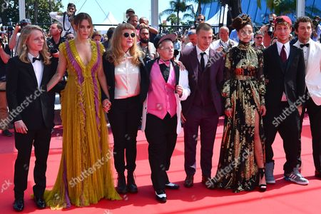 Cannes France 15th May 2016: Isaiah Stone, Riley Keough, Director Andrea Arnold, Actors Veronica Ezell, Mccaul Lombardi, Sasha Lane, Raymond Coalson and Shia Labeouf at the American Honey Premiere During the 69th Annual Cannes Film Festival On the 15th May 2016 in Cannes, France.